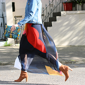 Sydney fashion blog | Shop the best colour block full length skirts online