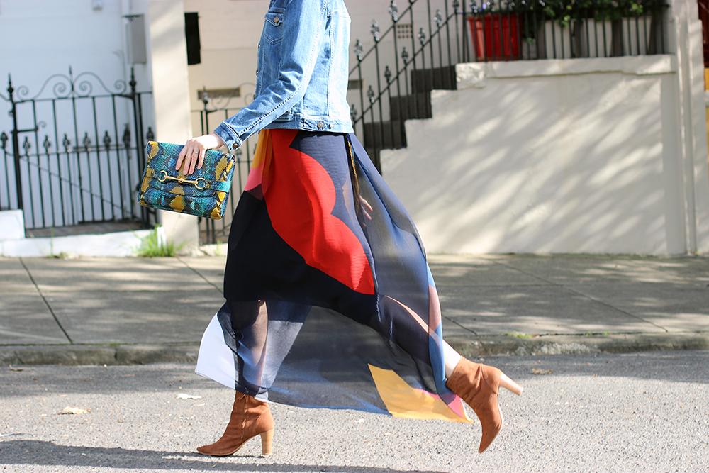 Sydney fashion blog | Shop the best colour block maxi skirts online