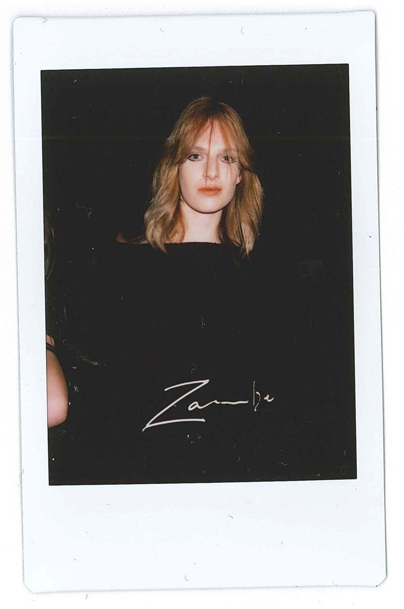NZFW2015 Ashleigh Good backstage at the Zambesi show in Auckland