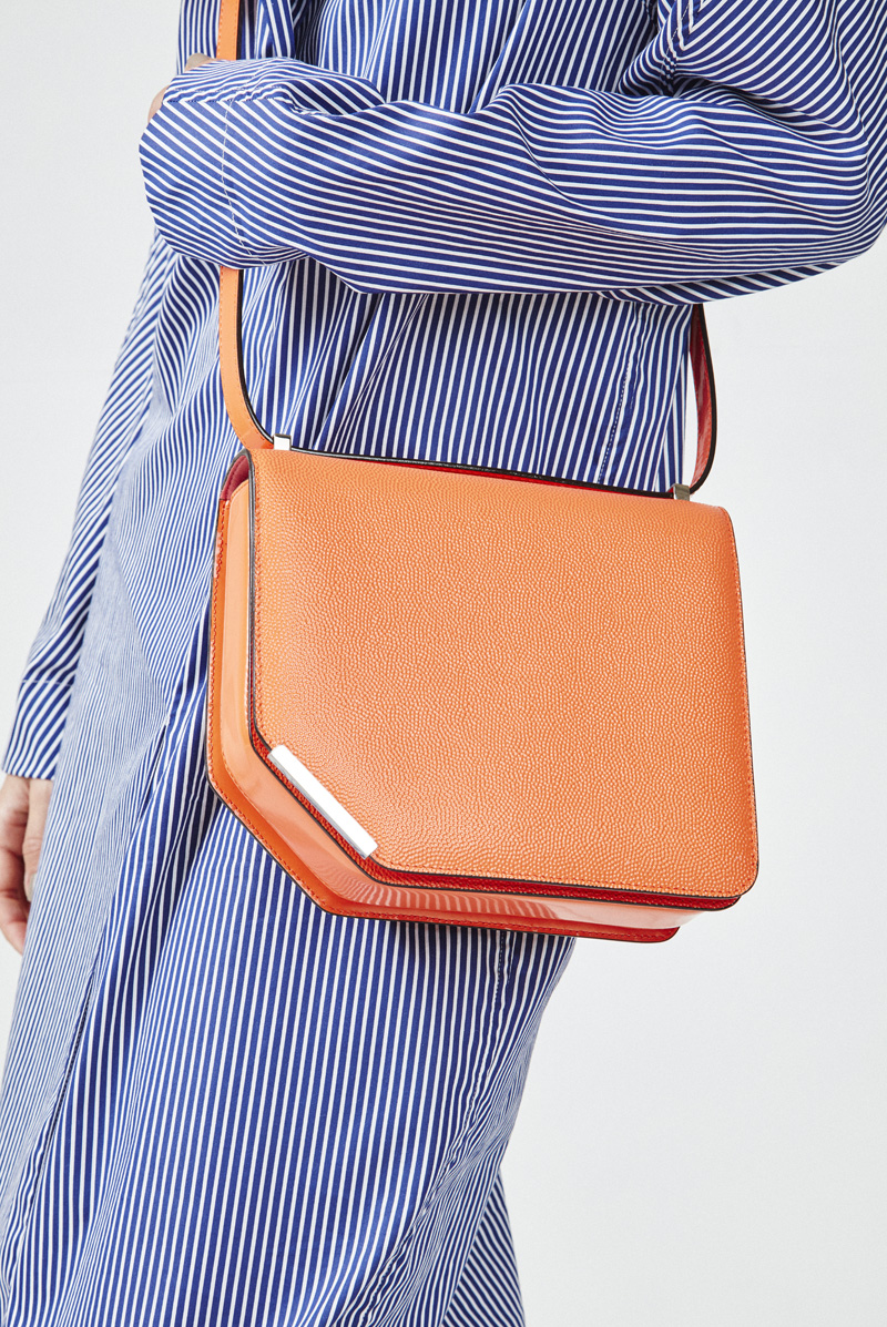 Chloe Hill Fashion Styling Work for Oyster Mag, bally bag and tome dress shot by Adam Bryce