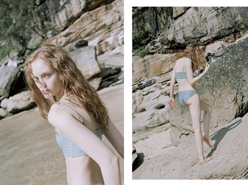 Oyster Market Swim Shot by Dakota Gordon Styled by Chloe Hill