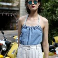 How to wear pinstripes for summer by Sydney Stylist and Blogger Chloe Hill