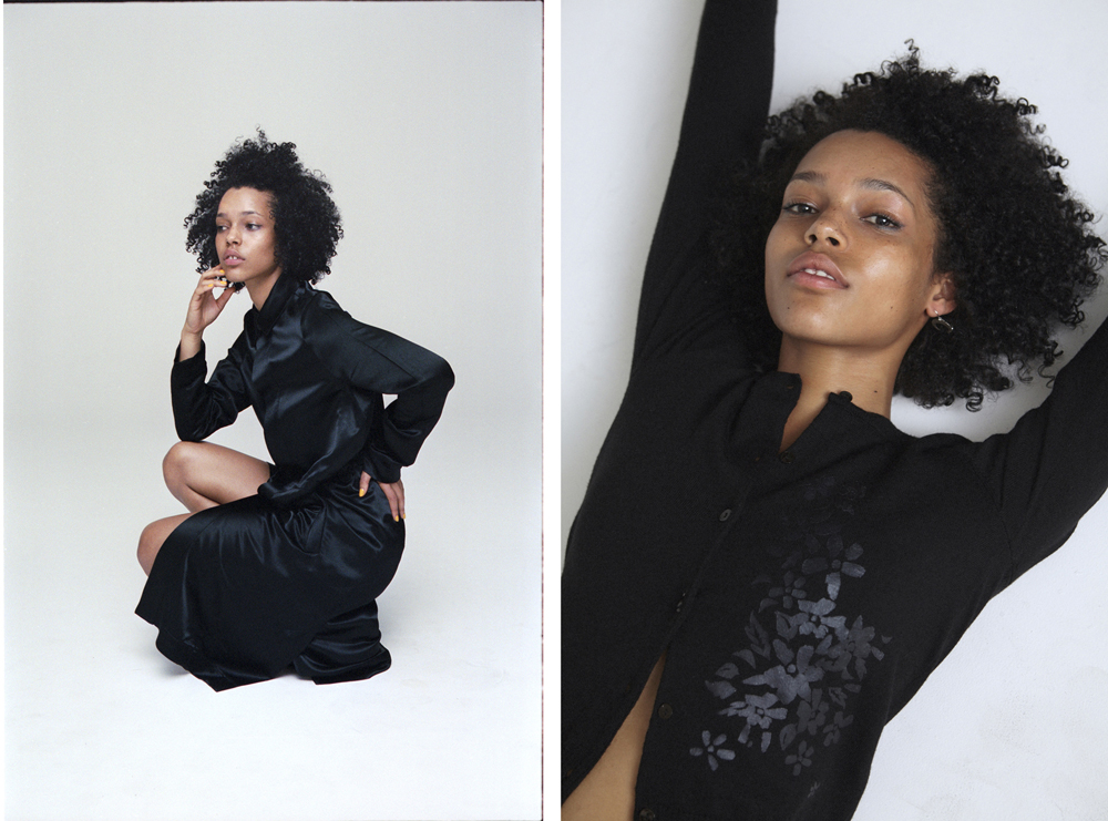 Ruby Campbell shot by Mason Stevenson and Styled by Chloe Hill for Oyster Magazine wearing Bassike and Kate Sylvester