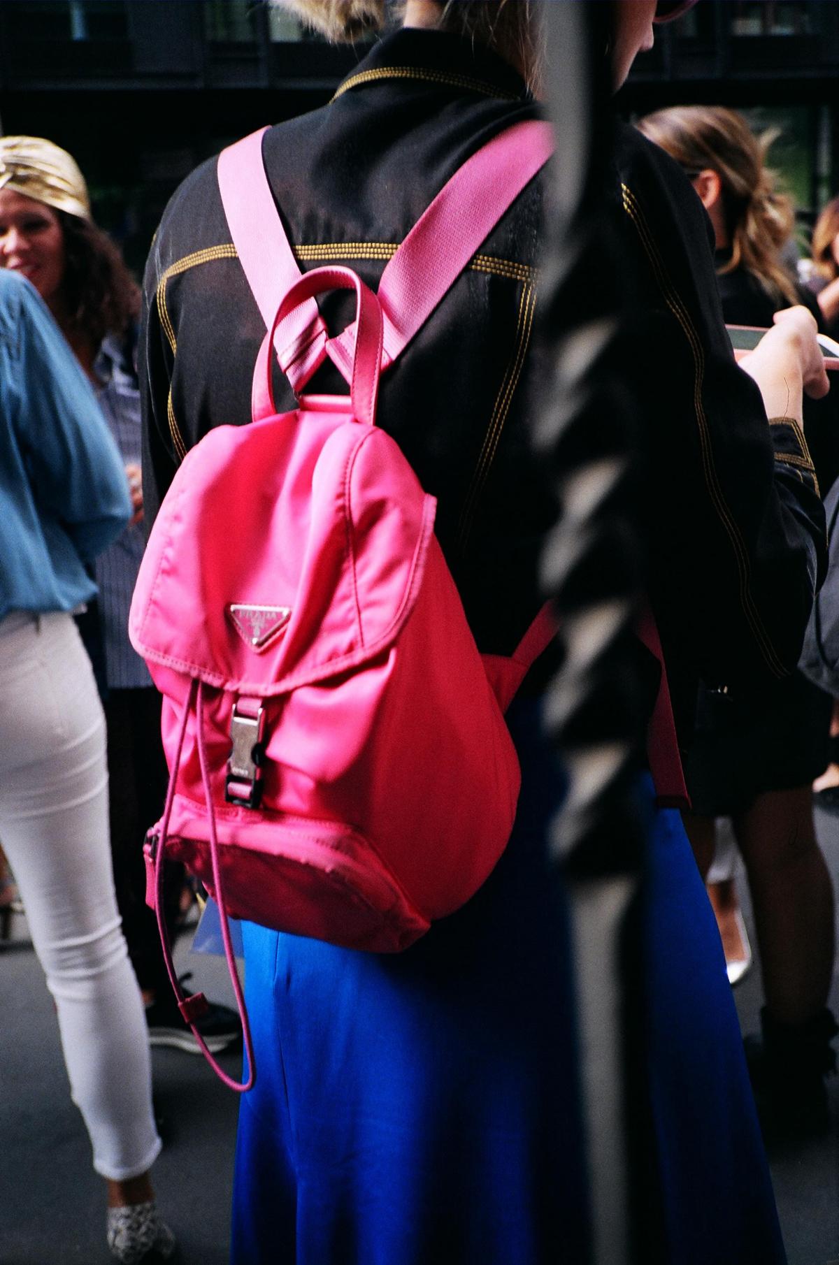 2d6e6b01b0d0 Prada Nylon Backpack Pink- Fenix Toulouse Handball