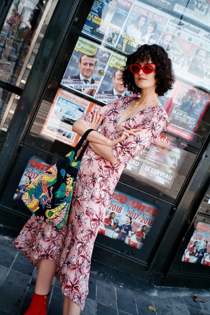 chloe hill in life with bird dress PARIS TRAVEL