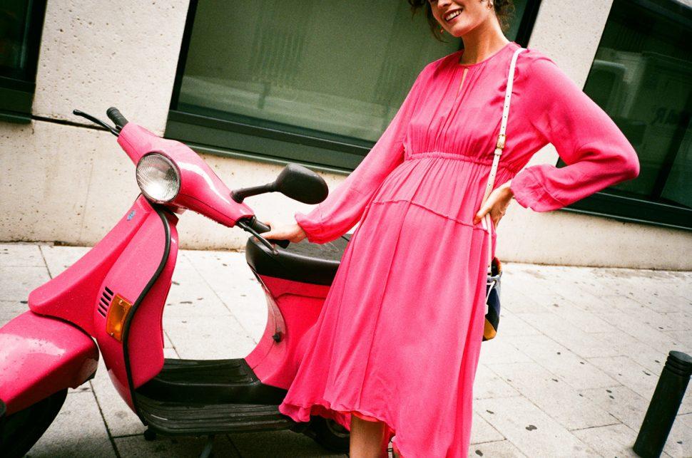 Lee mathews pink dress madrid CHLOE HILL 2