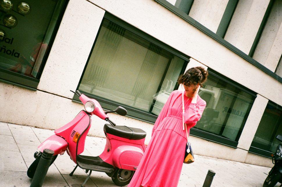 Lee mathews pink dress madrid CHLOE HILL 3