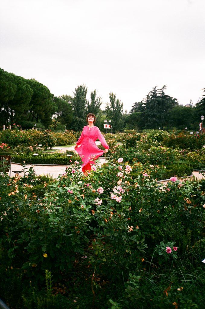 Lee mathews pink dress madrid CHLOE HILL