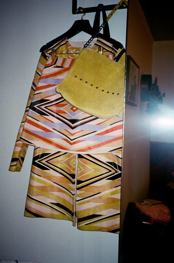 Longchamp SS18 ponyhair coat and mini skirt CHLOE HILL STYLIST LFW Feb 18 1