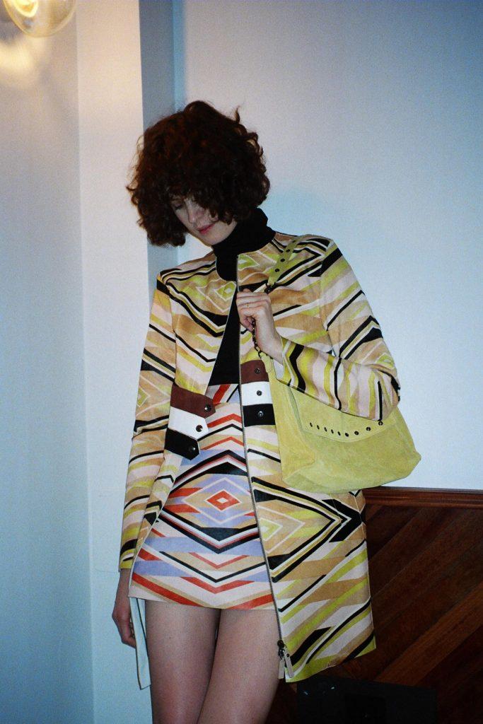 Longchamp SS18 ponyhair coat and mini skirt CHLOE HILL STYLIST LFW Feb 18 2