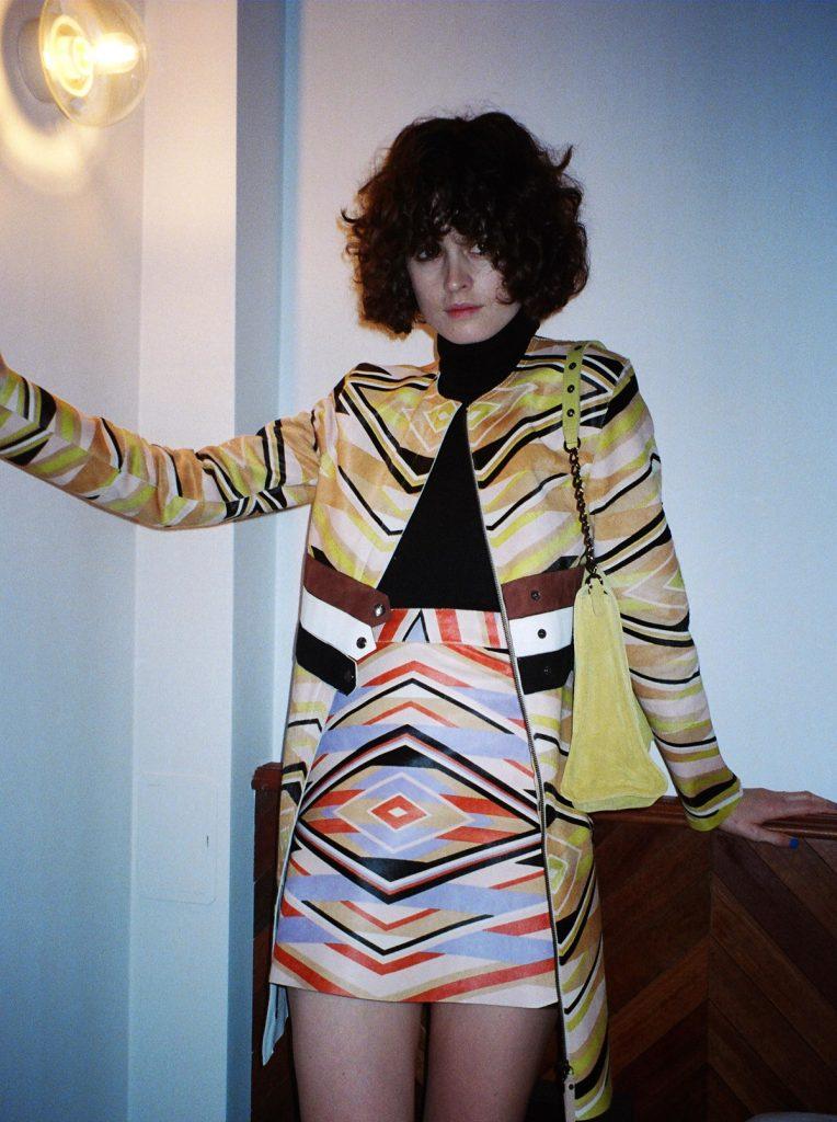 Longchamp SS18 ponyhair coat and mini skirt CHLOE HILL STYLIST LFW Feb 18 4