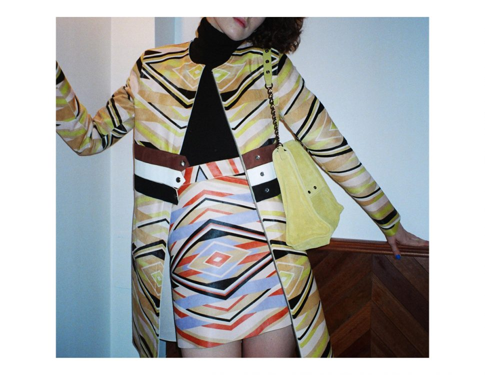 Longchamp SS18 ponyhair coat and mini skirt CHLOE HILL STYLIST LFW Feb 18 5