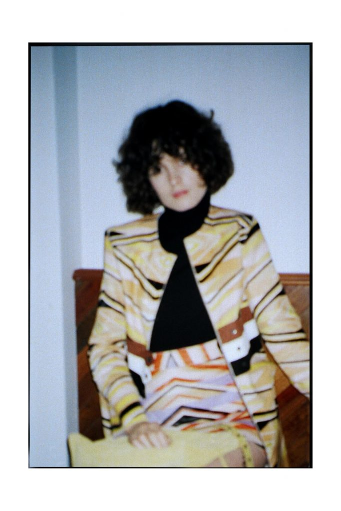 Longchamp SS18 ponyhair coat and mini skirt CHLOE HILL STYLIST LFW Feb 18 6