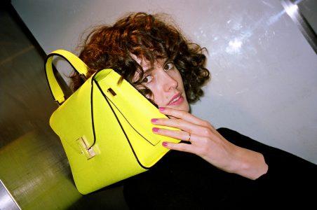 Valextra yellow bag Paris CHLOE HILL 3