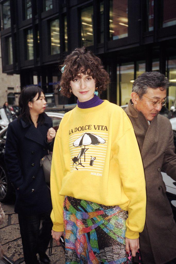 Holiday by emma mulholland dolce vita yellow sweatshirt 1