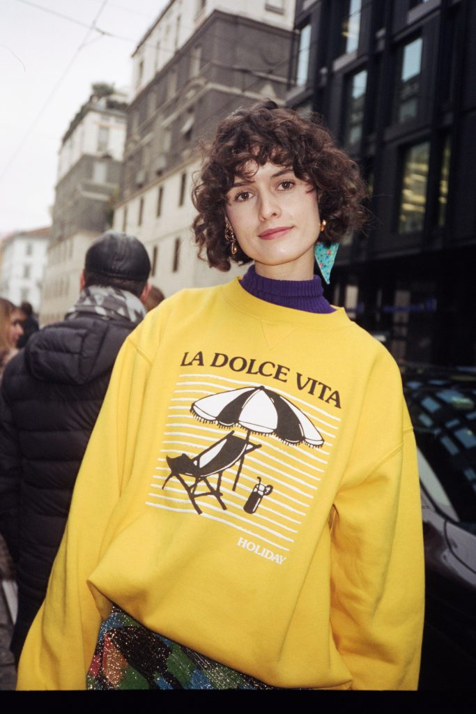 Holiday by emma mulholland dolce vita yellow sweatshirt 2