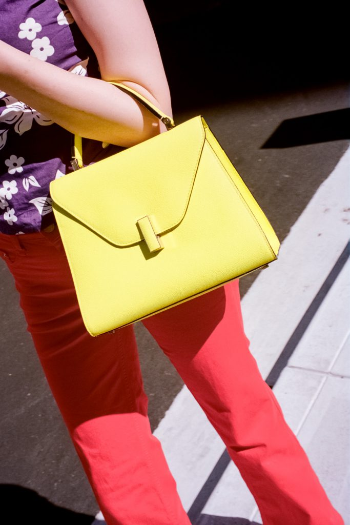 valextra yellow bag